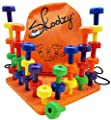 Peg Board Set - Montessori Occupational Therapy Fine Motor Toy for Toddlers and Preschoolers with 30 Pegs in Board for Color Recognition Sorting & Counting -Free Skoolzy 20+ Activity Pegboard Download
