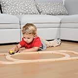 Wooden Train Track Set 54 Piece Pack - 100% Compatible with All Major Brands including Thomas