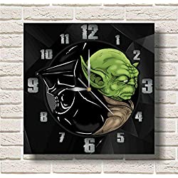 STAR WARS - Yoda 11.8'' Handmade Wall Clock - Get unique décor for home or office – Best gift ideas for kids, friends, parents and your soul mates