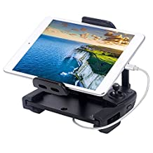 Smatree Tablet Holder for DJI mavic Remote Controller +[MFi Certified] 1ft Lightning to USB Cable for iPhone iPad iPod
