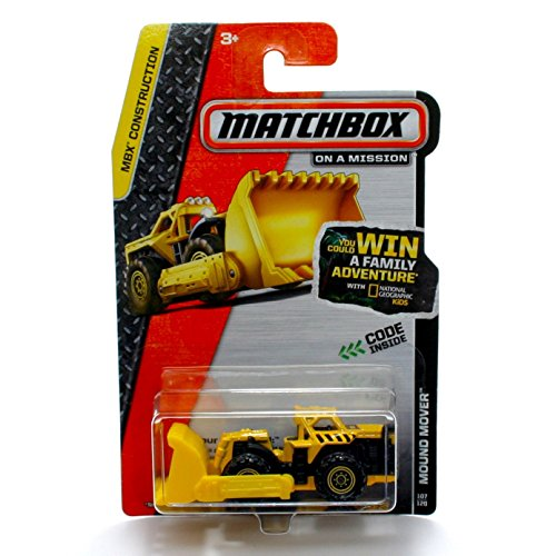 MOUND MOVER (Yellow) * MBX Construction * 2013 Matchbox on a Mission 1:64 Scale Basic Die-Cast Vehicle (#107 of (Mbx Mover)