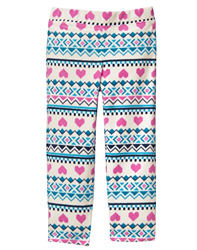 Fair Isle Heart (Crazy 8 Baby Girls Micro Fleece Pants, Heart Fair Isle, 6-12 Mo)