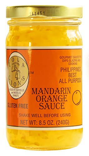 Lola Cion's Mandarin Orange Sauce (8.5 oz.) All Natural, Gluten-Free Multipurpose Glaze, Dressing, Topping, or Dip | Sweet, Low-Sugar Flavor | Cooking and Baking