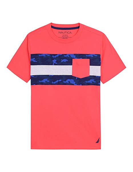 b6215de32772 Nautica Boys  Short Sleeve Colorblock Crew-Neck T-Shirt  Amazon.ca ...