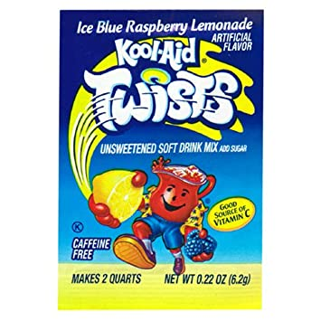 Amazon com : Kool-Aid Twists Ice Blue Raspberry Lemonade