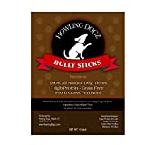 Bully Sticks - Healthy All Natural Dog Treats - 6 Inch Dog Chew From Premium Grass Fed Beef (10 PK) by Howling Dogz