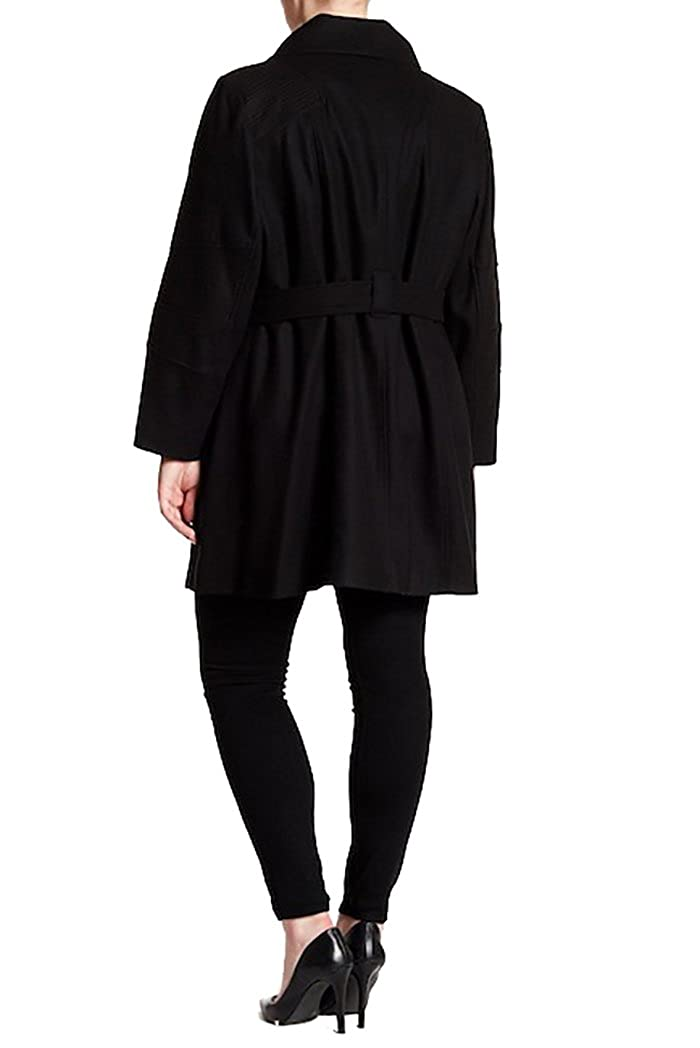 e8ba888cded3f Michael Kors Michael Asymmetrical Wool Blend Coat (Plus Size)