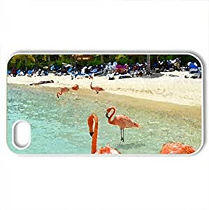 beach - Case Cover for iPhone 4 and 4s (Beaches Series, Watercolor style, White)