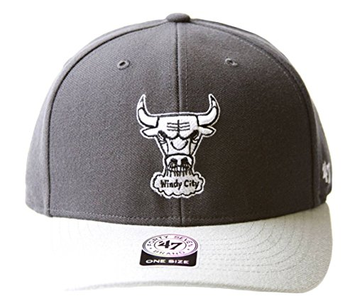 47 Brand Chicago Bulls 2 Tone Adjustable Hat + GT Sweat Wristband- Charcoal Grey