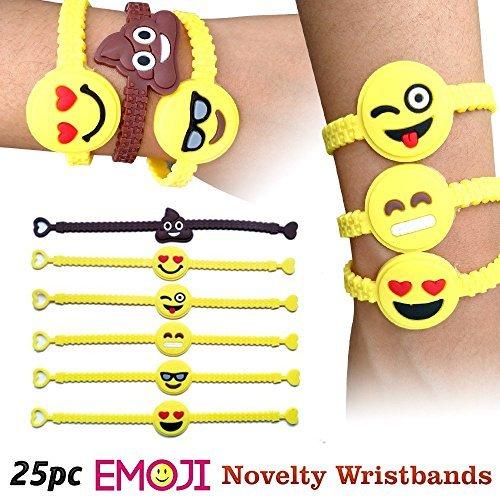 Emoji Designs Emoji Novelty Toy Rubber Wristband Bracelets by Emoji Designs