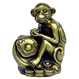 Handmade Chinese Zodiac Series- Brass Monkey Figurine Home Decor Gift