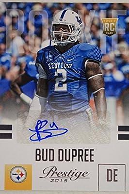 Bud Dupree Kentucky Steelers Autographed 2015 Panini Football Card #201 17E