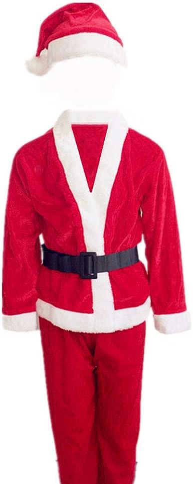 HeChao Adulto y niño Santa Grinch Disfraz Navidad Cosplay Conjunto ...