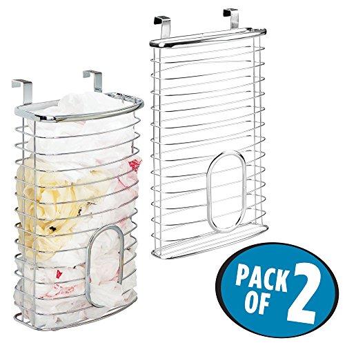 mDesign Over Cabinet Kitchen Storage Organizer Holder or Bas