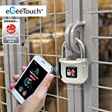 Digi-Pas GT2000-94 eGeeTouch Padlock CES Award Winner Smart Electronic Lock, Silver
