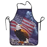 American Flag Eagle Aprons For Women/men Bib Save-all Barbecue Cooking Cloth Funny Chef Apron