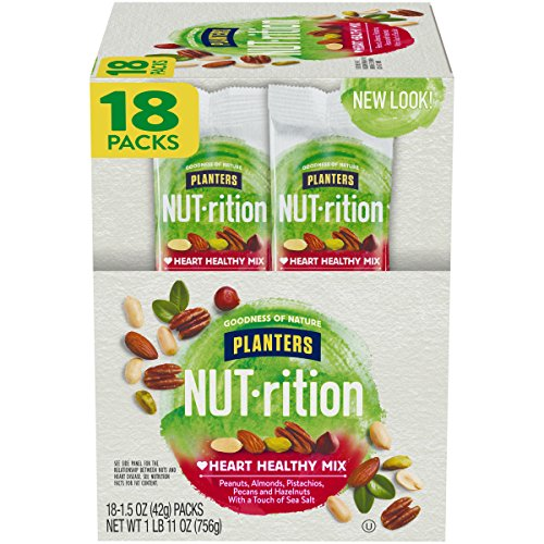 NUTrition Heart Healthy Nut Mix (1.5 oz Bags, Pack of 18)
