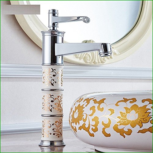 Lalaky Taps Faucet Kitchen Mixer Sink Waterfall Bathroom Mixer Basin Mixer Tap for Kitchen Bathroom and Washroom Single Hole Copper Ceramic Copper