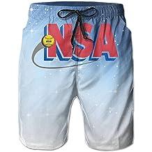Nsa_Logo Mens Beach Fashion Beach Shorts Pants