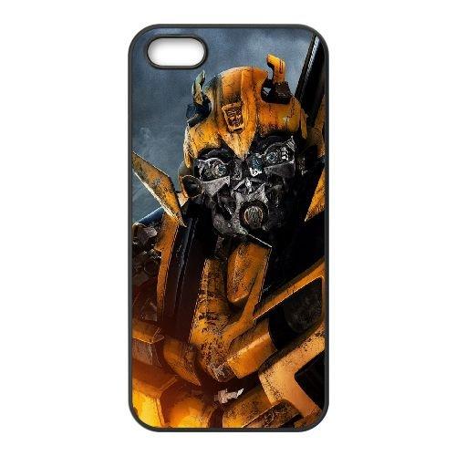 901 Bumblebee Transformers L funda iPhone 5 5S caja funda del teléfono celular del teléfono celular negro cubierta de la caja funda EOKXLLNCD21089