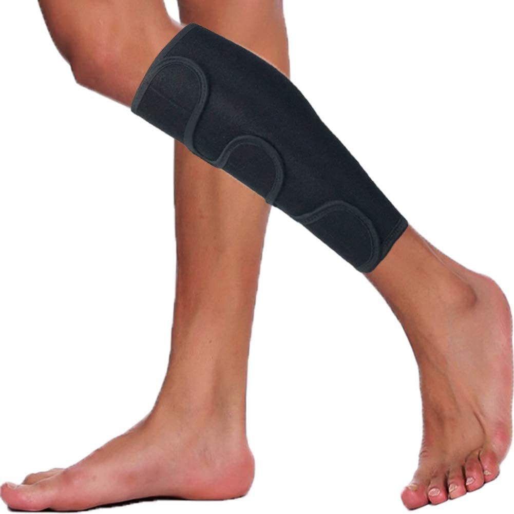 Amazon Com Hopeforth Calf Brace Adjustable Shin Splint Support Sleeve Leg Compression Calves Wrap Pads For Torn Calf Muscle Pain Relief Calf Injury Men And Women Single Black Industrial Scientific