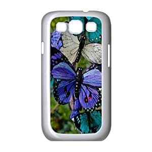 cheap Blue pink butterfly Protective Case Cover For Samsung Galaxy S3 HQB5201174592