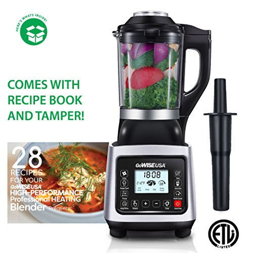 GoWISE USA Heating High-Speed Professional Blender 2.0 Horse Power, Baby Food...