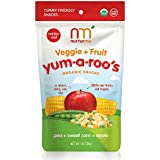 NurturMe Yum-A-Roo's Organic Toddler Snacks, Pea + Sweet Corn + Apple, 1 Ounce (Pack of 6)