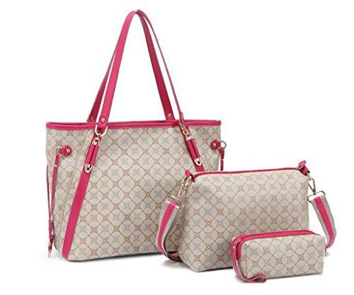 Babyonline Bucket Women Handbag Tote Messenger Bag Zipper Pouch Removable Pouch