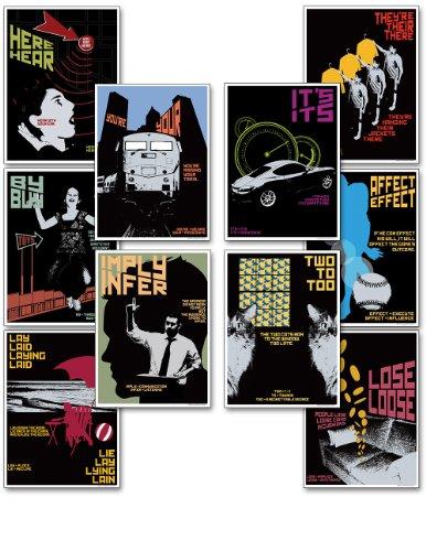 Mini Grasping Grammar Educational Poster Set. Eco-friendly, Language Arts Bulletin Board Set