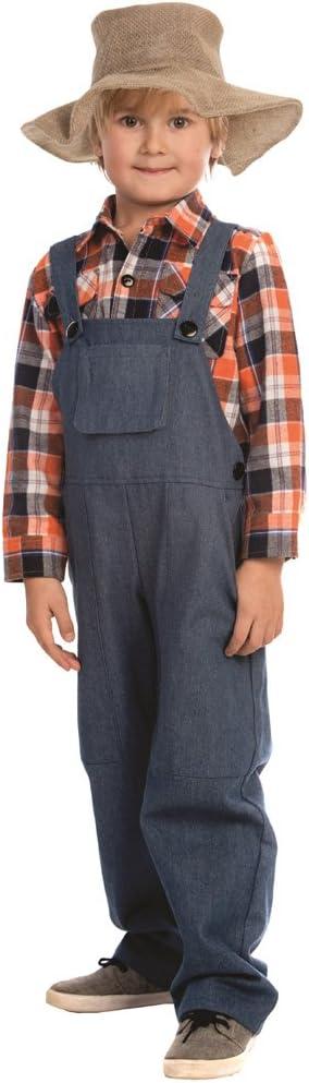 Dress Up America - Disfraz de Granjero para niños, Multicolor, Talla XS, 3-4 años (840-T4)