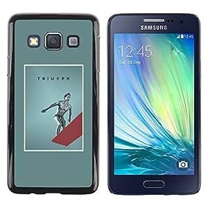 Paccase / SLIM PC / Aliminium Casa Carcasa Funda Case Cover para - Swimming Quote Poster - Samsung Galaxy A3 SM-A300