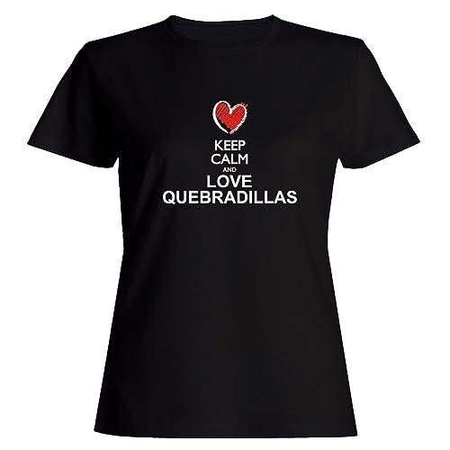 Idakoos Keep calm and love Quebradillas chalk style Maglietta donna