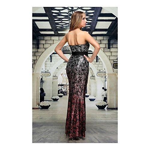 Kleid Für Festamo Grau bei Damen Ital Design Abend Maxi ZTxEFxqwP4