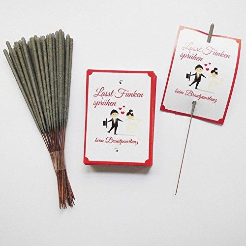 Brautpaartanz Set Brautpaar: 40 Karten + 40 Wunderkerzen Hochzeit Eröffnungstanz
