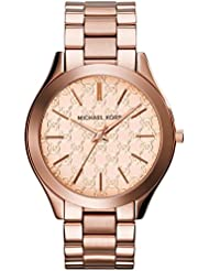 Michael Kors Womens Runway Quartz Stainless Steel Watch, Color Rose Gold-Toned (Model: MK3336)