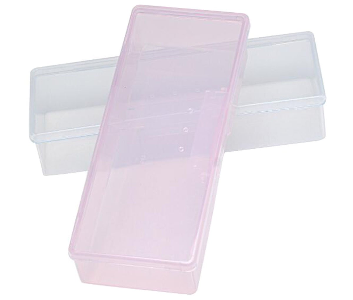 2 Pcs Empty Multifunctional Rectangular Storage Box - Nail Jewelry Storage Box Polished Manicure Toolbox