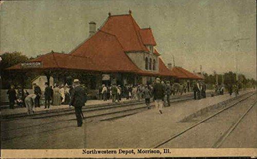 Northwestern Depot Morrison, Illinois Original Vintage Postcard