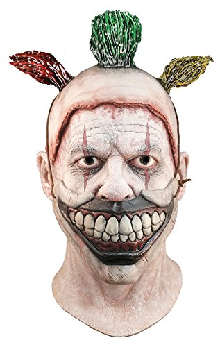 Gray Alien Costume (UHC Men's American Horror Story Twisty the Clown Latex Mask Halloween Accessory)