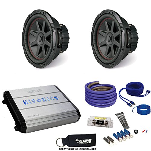 "10"" CompVR Subwoofers & Hifonics ZXX-1200.1D Zeus 1200 Watt Amplifier & Wiring Kit ()"