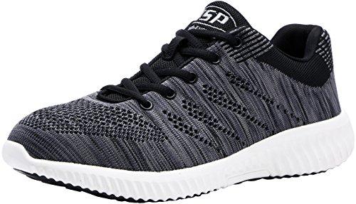 - LARNMERN Steel Toe Shoes Men, Work Safety Sneakers Lightweight Industrial & Construction Shoe (10, Dark Gray)