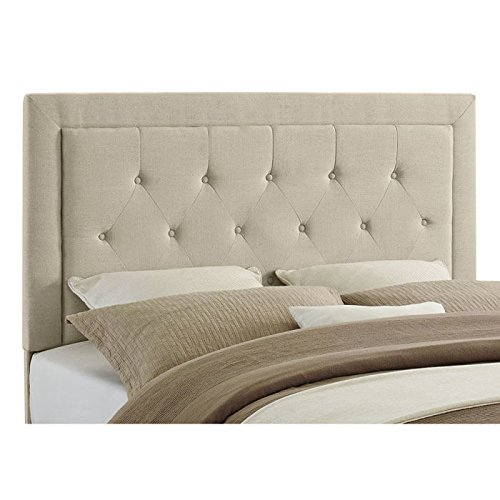 amazoncom linon clayton headboard fullqueen charcoal - Queen Tufted Bed Frame
