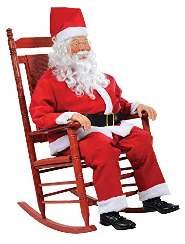 CHRISTMAS TALKING REALISTIC LIFESIZE ANIMATED ROCKIN SANTA CLAUS by Unknown