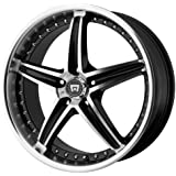 """Motegi Racing MR107 Gloss Black Wheel With Machined Face (17x7.5""""/5x114.3mm, +45mm offset)"""