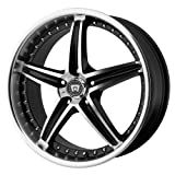 mustang 2015 rims and tires - Motegi Racing MR107 Gloss Black Wheel With Machined Face (17x7.5
