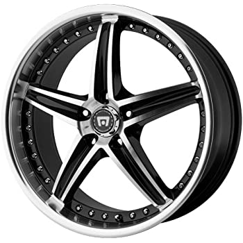 "Motegi Racing MR107 Gloss Black Wheel With Machined Face (17x7.5""/5x100mm, +45mm offset)"