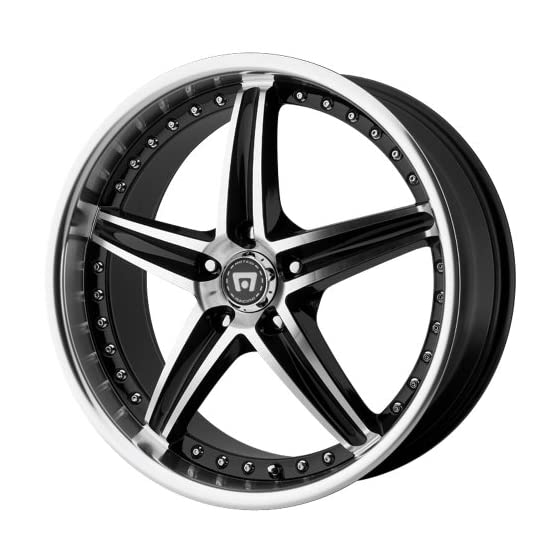 Motegi Racing MR107 Gloss Black Wheel With Machined Face (17×7.5″/5×114.3mm, +45mm offset)