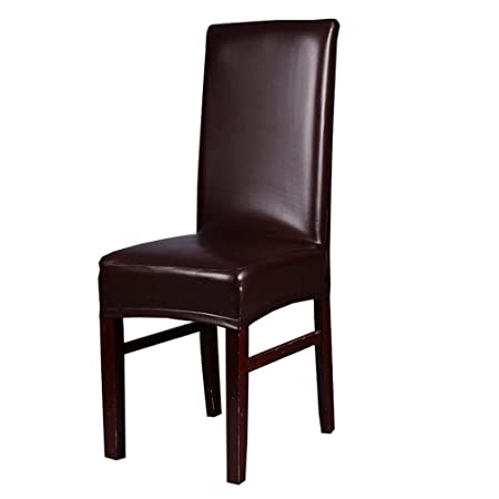 Charmant Inroy PU Chair Covers Artificial Stretch Leather Chair Protector Waterproof  And Oilproof Universal Seat Slipcovers (