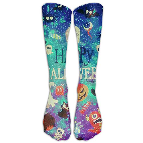 Happy Halloween Compression Socks Soccer Socks High Socks For Running,Medical,Athletic,Edema,Diabetic,Varicose Veins,Travel,Pregnancy,Shin -