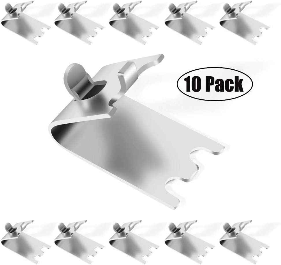 FENGWANGLI 920158 Freezer Shelf Clip Freezer Cooler Shelf Support Shelf Square Clips Stainless Steel Shelf Clip for Refrigerator (10 Pcs)